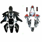 Black Plastic Body Fairing Kit w/ Sticker for Honda XR50 CRF 50 125cc Pit Bike