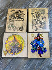 VINTAGE 90s 4pc Halloween Witch Rubber Stamp Lot Alma Lynne PSX Stampressions