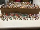 Hallmark Merry Miniatures Christmas Lot of 153 plus 2 train sets