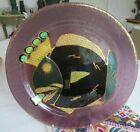 KING FISH STUDIO ART GLASS PLATE Signed by Wallin 1997 15