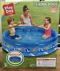 NEW Play Day 3 Ring Inflatable Kids Swimming Pool Blue FREE SHIPPING