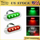 2x Red Green LED Boat Navigation Light Deck Waterproof 12V Bow Pontoon Lights