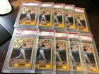LOT OF (10) 1987 TOPPS BARRY BONDS #320 PSA 9 MINT ROOKIE CARDS INVESTMENT