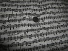 Small Musical Notes Music Score Lines of Notes on Cotton Fabric 1 yard EXC