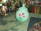 Jadeite~Jadite Depression Style Art DecoTulip Grease~Drippings Jar with Lid