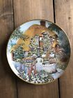 Lilliput Lane Limited Edition Wishing Well Cottage Plate By Franklin Mint