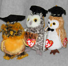 3 TY Collectible Beanie Babies - Being Smart Between the Smartest and the Wisest