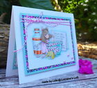 Stampendous cling mounted rubber stamp HOUSE MOUSE CURE ALL TEA
