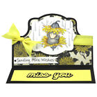 Stampendous cling mounted rubber stamp HOUSE MOUSE RAIN FLOWER