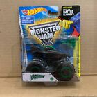 HOT WHEELS MONSTER JAM DRAGON 4X4 TRUCK 66 BLACK OUT EDITION GREEN CHASE RARE