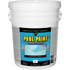 5Gal Pool Paint Solid White Semi Gloss Finish Acrylic Self Priming Deck Concrete