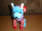 332-Ty Beanie Baby - HODGE-PODGE the Dog with BLUE & RED  FEET 6