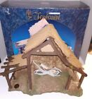 FONTANINI Lighted Stable for Nativity Set 5 Scale 1991 Christmas Heirloom