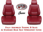 1980 81 Camaro Seats Standard Touring II Fully Assembled  Standard Rear Cover