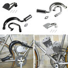 H P Exhaust Muffler Pipe Chain Tensioner 50cc 80cc Bike Gas Engine Motor Parts