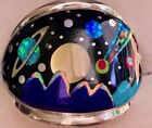 BIG EARTH NASA Celestial Planets Mens Opal ring 11 Star Space Exploration W