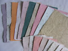 Assorted Colors Handmade Paper Sheets 10 Pieces 85 x 11 + 10 Pieces 725 x 6