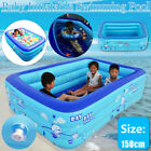 59In Square Rectangle Baby Inflatable Square Swimming Pool Children Bathing US