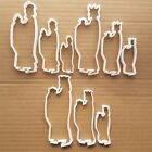 Wise Men Nativity Xmas Shape Cookie Cutter Dough Biscuit Pastry Fondant Sharp