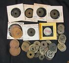 Lot of 41 Pre WWII Chinese Bronze Copper Coins One Porcelain