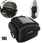 Motorcycle Bike Tail Seat Bag Luggage Helmet Pack Case Backbag w/ Water Cover