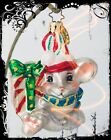 SALE Luxe Christopher Radko MOUSE Candy style Lovely Handcrafted Glass Ornament