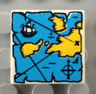 Lego PIRATE TILE 2 X 2 WITH MAP & PIRATE SHIP PATTERN WHITE