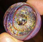 Contemporary glass Dichroic chaos galaxy space glass marble by Crisanti 175 in