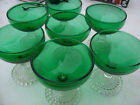 Vintage Anchor Hocking Boopie Forest Green Bowl Sherberts set of 7