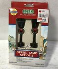 Lemax 14013 Street Lamp Set of 2 Christmas Accessory Village Town Battery -NEW