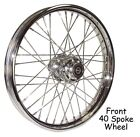 40 Spoke 21 Chrome Wide Front Wheel 21 x 215 Harley FXST 00 06 FXDWG 00 05