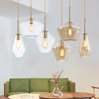 Modern Chandelier Ceiling Lights Glass Champagne Gold Hanging Pendant Loft Lamp