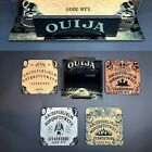 Ouija Spirit Board Glass Coaster 4 piece Set Laser Engraved with Stand