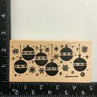 Northwoods Hanging Christmas Ornaments Wood Mounted Rubber Stamp Holiday