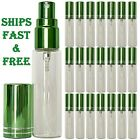 10 ML Green Glass Spray Bottles Perfume Decants Highest quality Atomizers USA