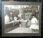 Old Vintage real 1880s Photo of Butcher shop in Milwaukee Wisconsin ORMayer