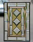 Contemporary Beveled Stained Glass Window Panel Hanging Rule of 3