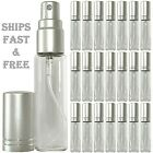 Empty Perfume Glass Bottles 10ml Silver Spray Decants Top quality Atomizers