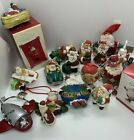 Christmas Ornament Lot Santa Collection 18 Pieces