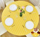 Vinyl Tablecloth Round Fitted Elastic Flannel Checkerboard 36 56 Inch Tables