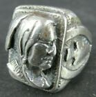 VINTAGE HANDMADE STERLING SILVER INDIAN NATIVE AMERICAN WARRIOR RING Size 9