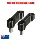CNC Mirrors Riser Extender Adapter Suzuki DR200 SE Djebel 250 XC MX 10MM Black