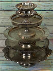 Lot of Vintage Silver Plate Risers Cake Plate Cake Stand Compote