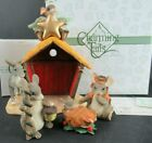 FITZ AND FLOYD CHARMING TAILS NATIVITY FIGURINE SET IN ORIGINAL BOXES