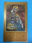 Vintage Unused Gibson Xmas Greeting Card Holiday Nativity on Gold Box of 25