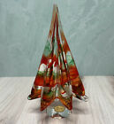 Vintage Murano Italy Art Glass 875 Red and Green Swirl Christmas Tree