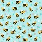 Spring Bees Knees Fabric 100 Quilters Cotton Bees and Flowers