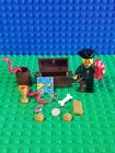 Lego Pirate Treasure Chest With Gold Coins Pirate Captain Parrot Snakes Map