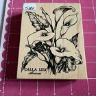PSX CALLA LILY Lilies Flowers Botanical K 1696 Rubber Stamp 5120