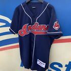Vintage Cleveland Indians Russell Authentic Jersey sz 44 L MINT 90s USA Lofton